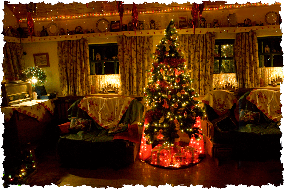 cottage christmas tree